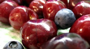 blueberries-cherries